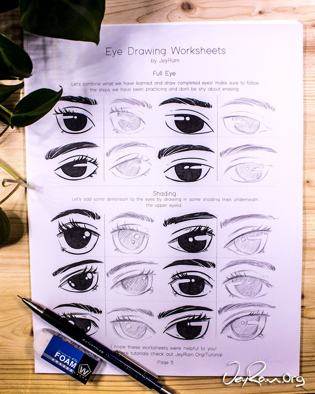 How To Draw Eyes Free Printable Workbook