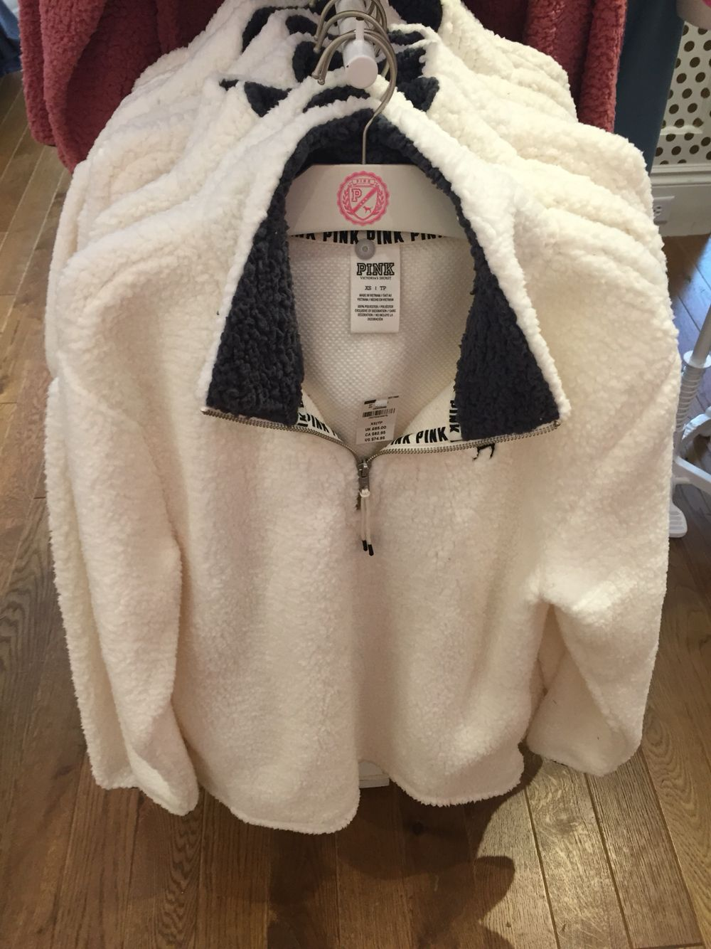 Super comfortable Sherpa pullover from PINK at Polaris Fashion ...