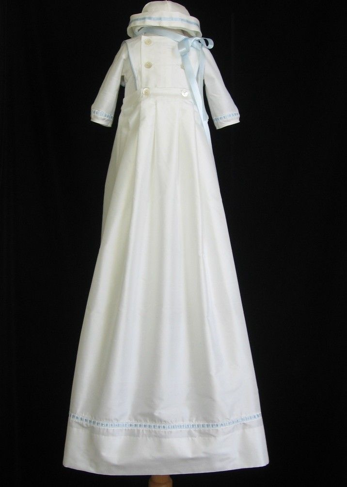 Boys Silk Christening Gown Baptism Outfit By