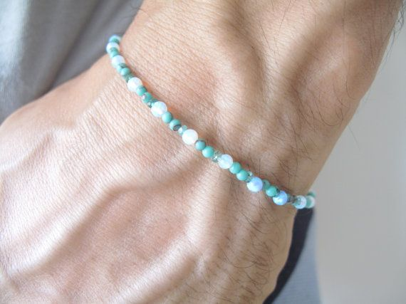 opal beads natural turquoise green beads and by Symbolinajewelry, $59.00