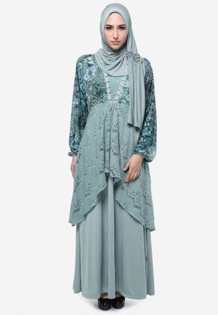 50 Gambar Model Baju Batik Gamis Kombinasi Terbaru Nice Gamis