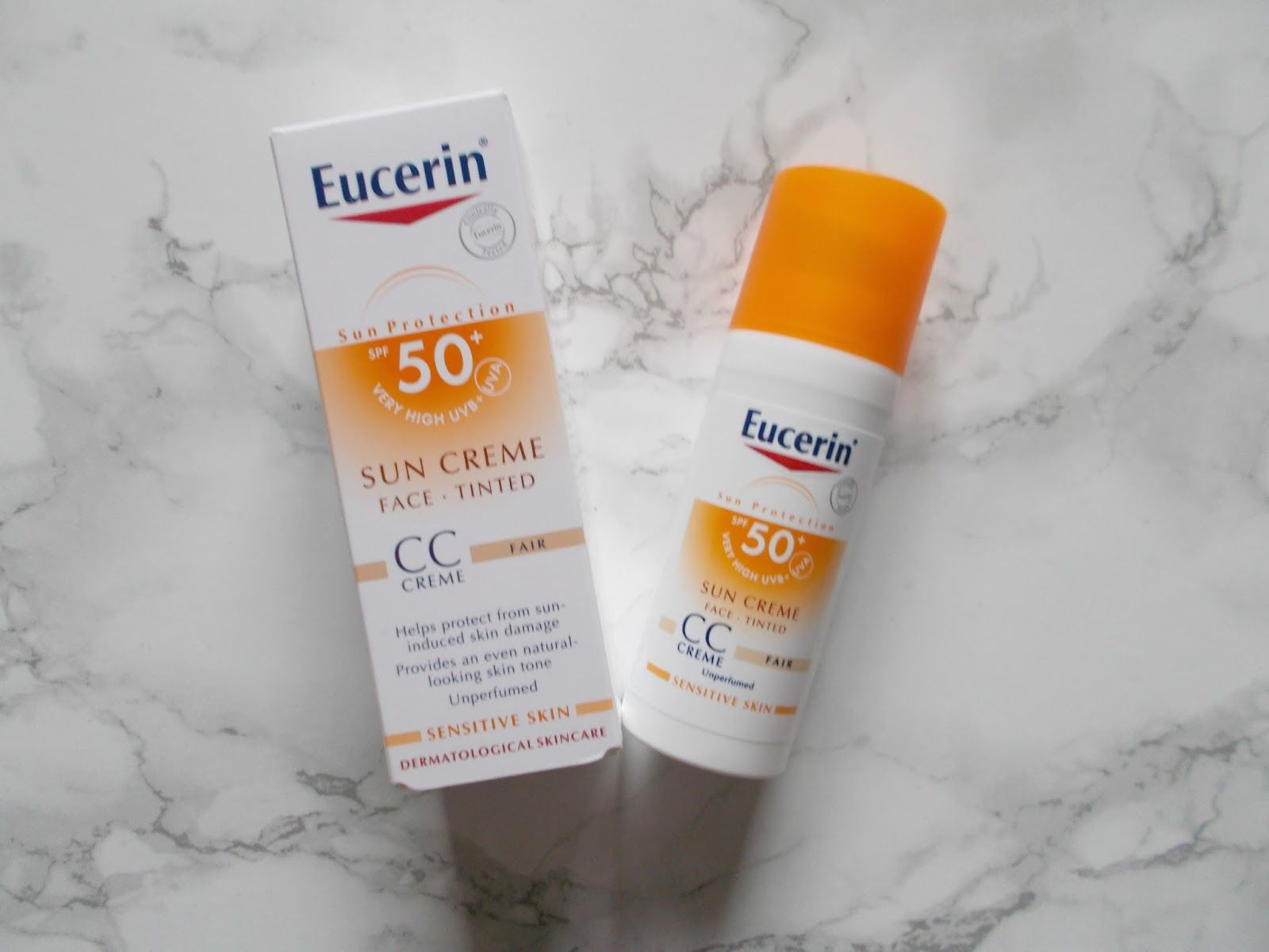 eucerin tinted spf 50 review
