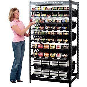 "Mormon Food Storage Mesmerizing Shelf Reliance Harvest 72"" #10 Food Rotation Systemshelf Design Inspiration"