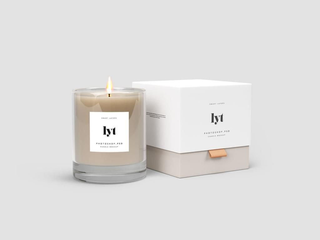 Candle Package Free Mockup Candle Design Packaging Candle Logo Design Candle Mockup