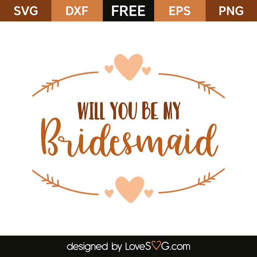 Wedding Card SVG Design File For Cricut and Silhouette Will You Be My Maid of Honor SVG Invitation Wedding Party Svg Svg Dxf Eps Png Ai