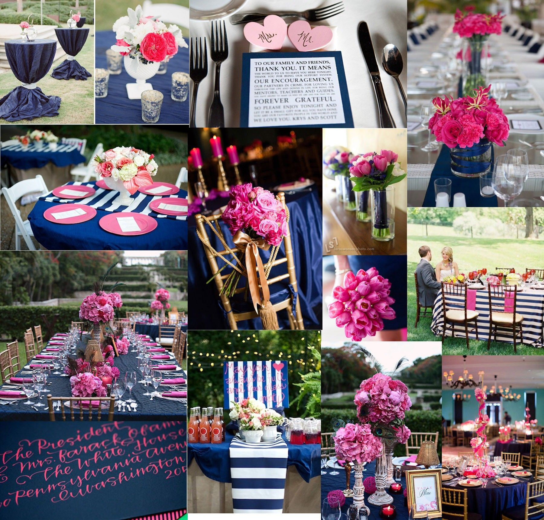 A Navy And Pink Wedding Pink Wedding Theme Navy Pink Weddings
