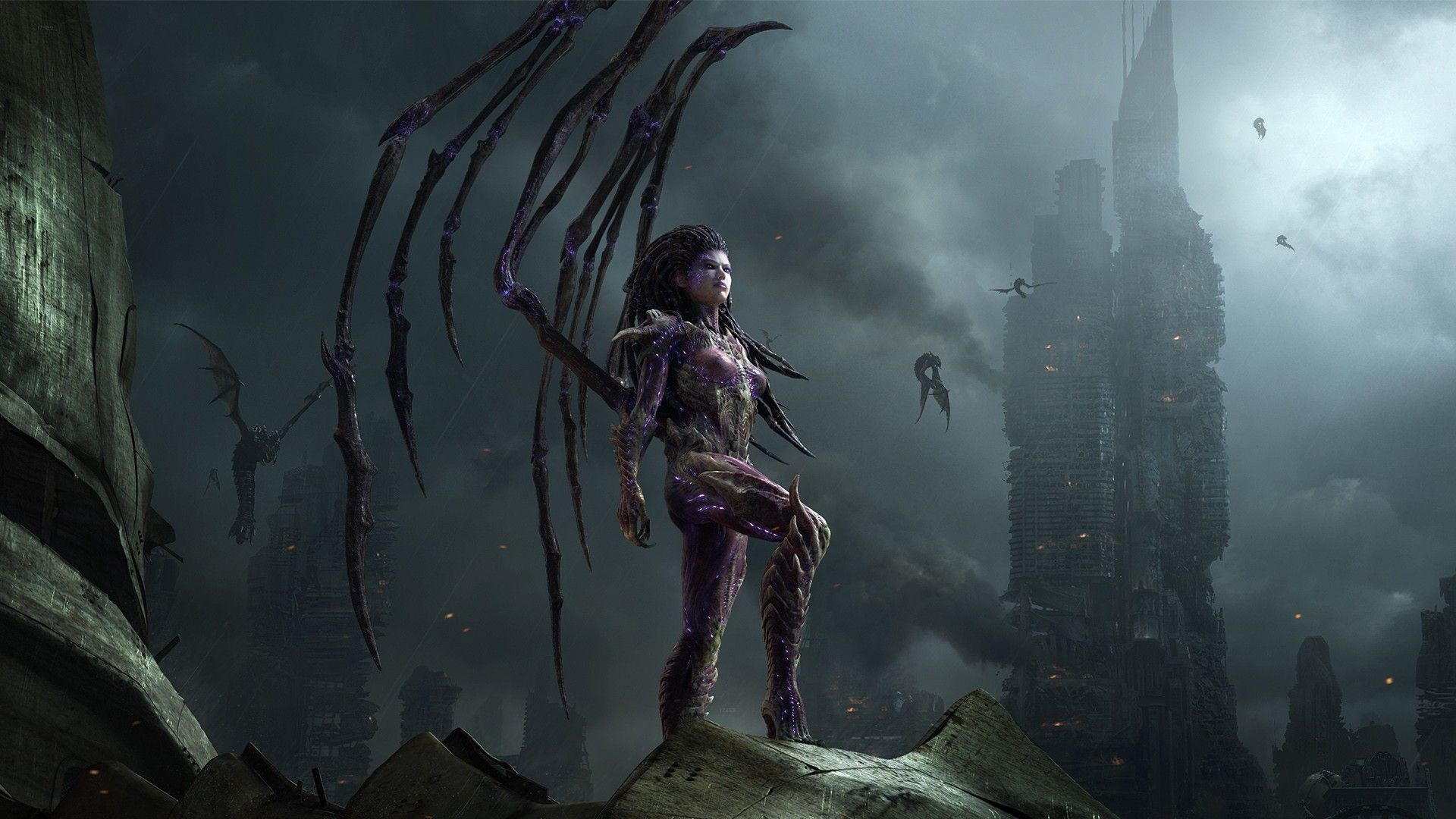 sci-fi fantasy babes |  post apocalyptic buildings cities women