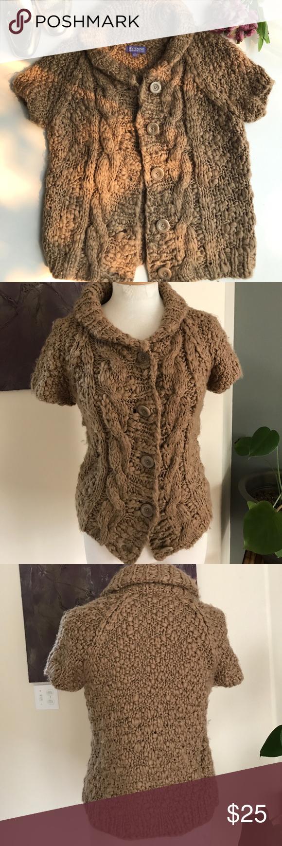 Vivienne Tam Chunky Knit Short Sleeve Cardigan | Knit shorts ...