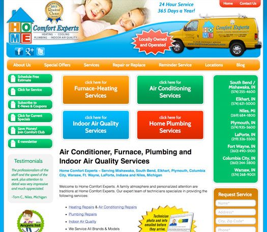 Hvac Website Design Website Design Web Design Building Hvac