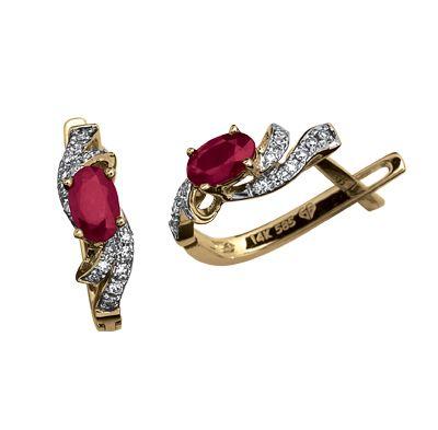 051cbfb238e3 Aretes oro 14k con 11 puntos de diamante y 62 puntos de rubí Precio boutique   7