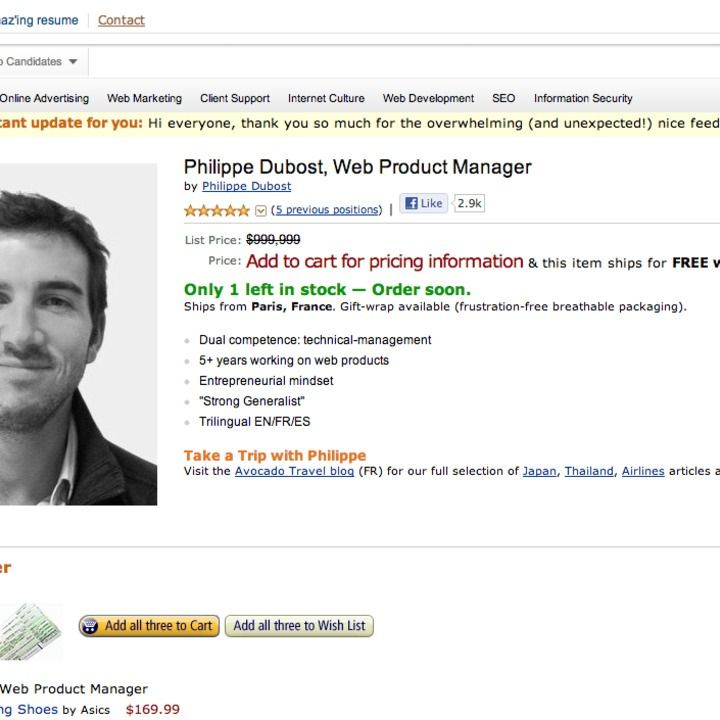 Fake amazon page is best online resume ever online