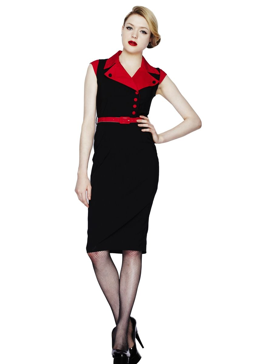 Hell Bunny Veronica Pencil Dress  Rockabilly