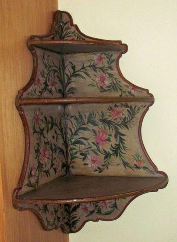 Floral Corner Shelf