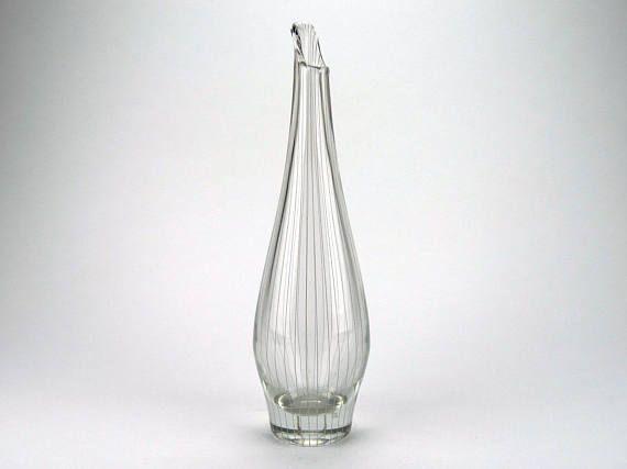 Sixten Wennerstrand For Johansfors Mid Century Clear Glass Etsy Clear Glass Vases Glass Vase Colored Glass Vases