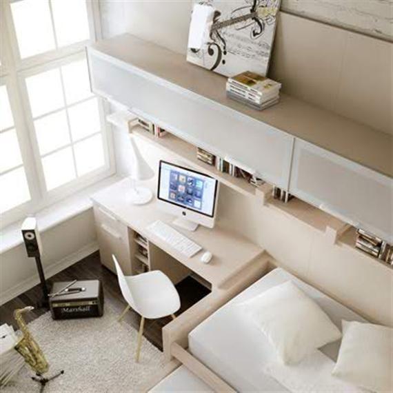 ideas de escritorios juveniles baratos incorporado todo en un mueble muy prctico