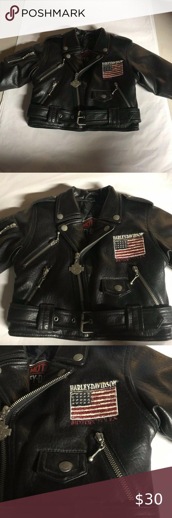 Harley Davidson Toddler Faux Leather Jacket 3t Toddler Faux Leather Jacket Leather Jacket Faux Leather Jackets [ 1740 x 580 Pixel ]