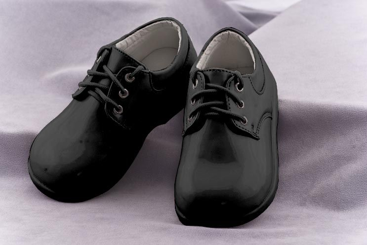 new style dd7f0 9cd37 Black Infant-Toddler Tuxedo Shoes by Fouger
