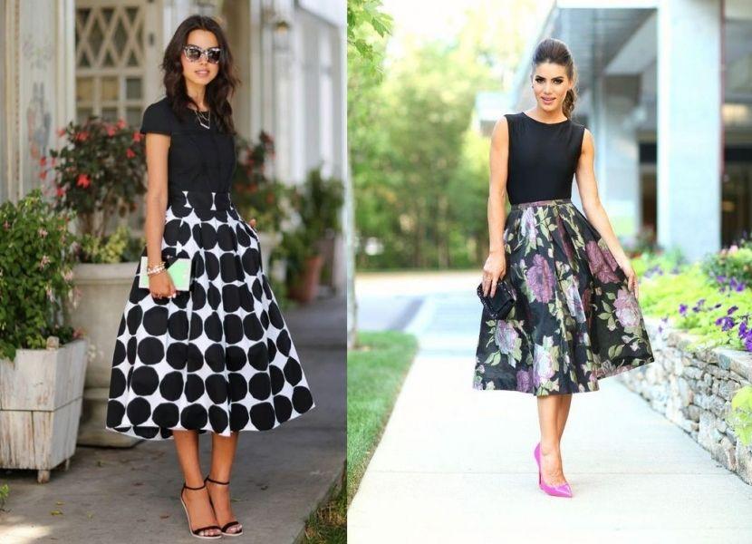 1680364eab55c Faldas midi - Ideas de looks para estar a la moda