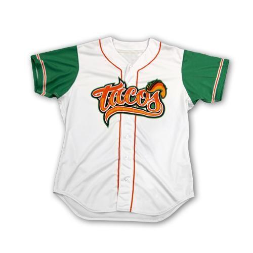 4a441bf9d Fresno Tacos Jersey | Wearables | Fresno grizzlies, Mlb uniforms, Tacos