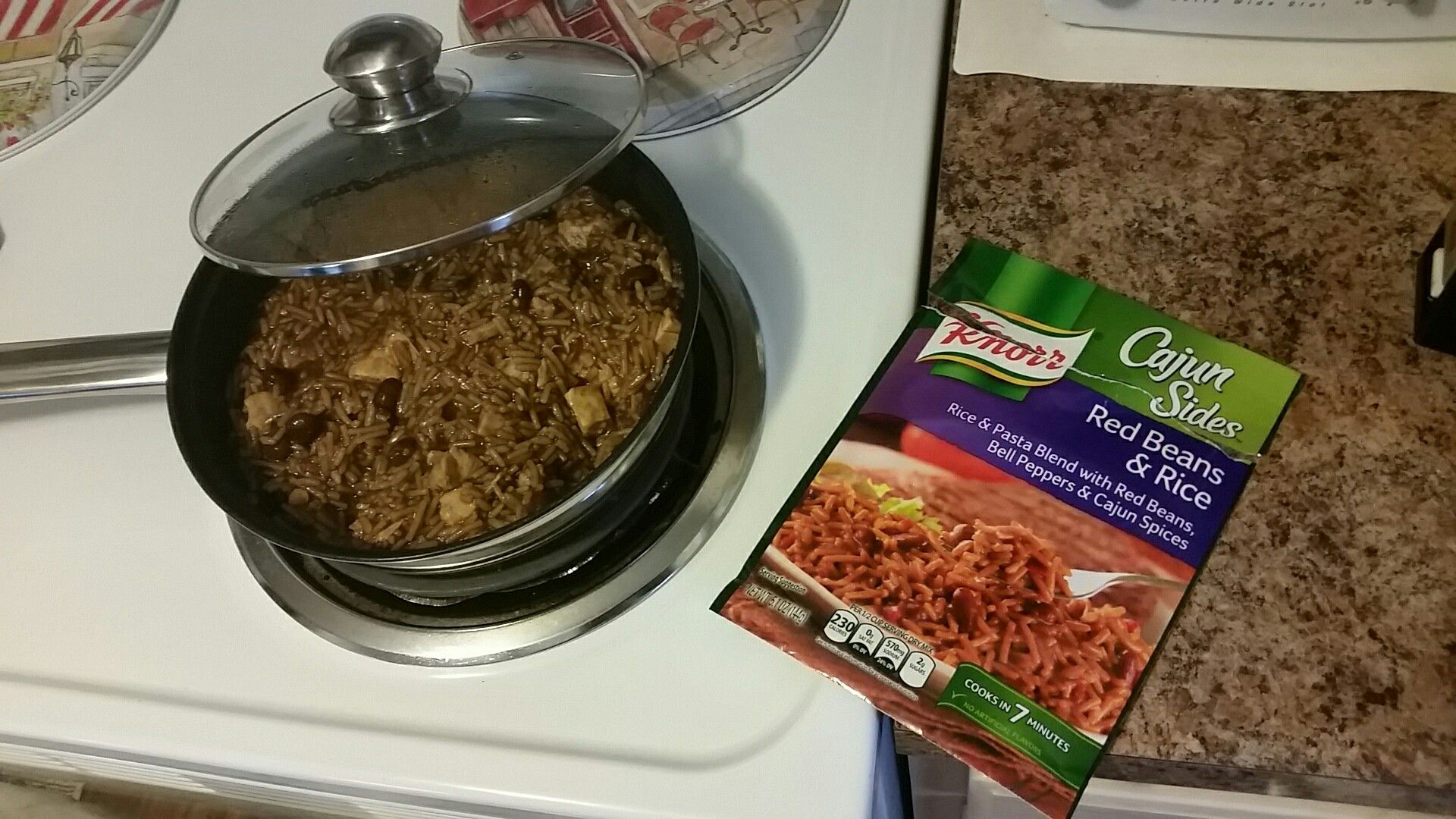 Cajunsides Red Beans Rice Sometimes I Like To Add Chicken When I Make A Knorr Side Dish For Complete Nutrition Great Recipes Great Recipes Cajun Rice