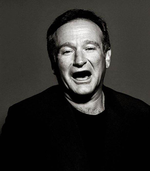 Black And White Portrait Robin Williams