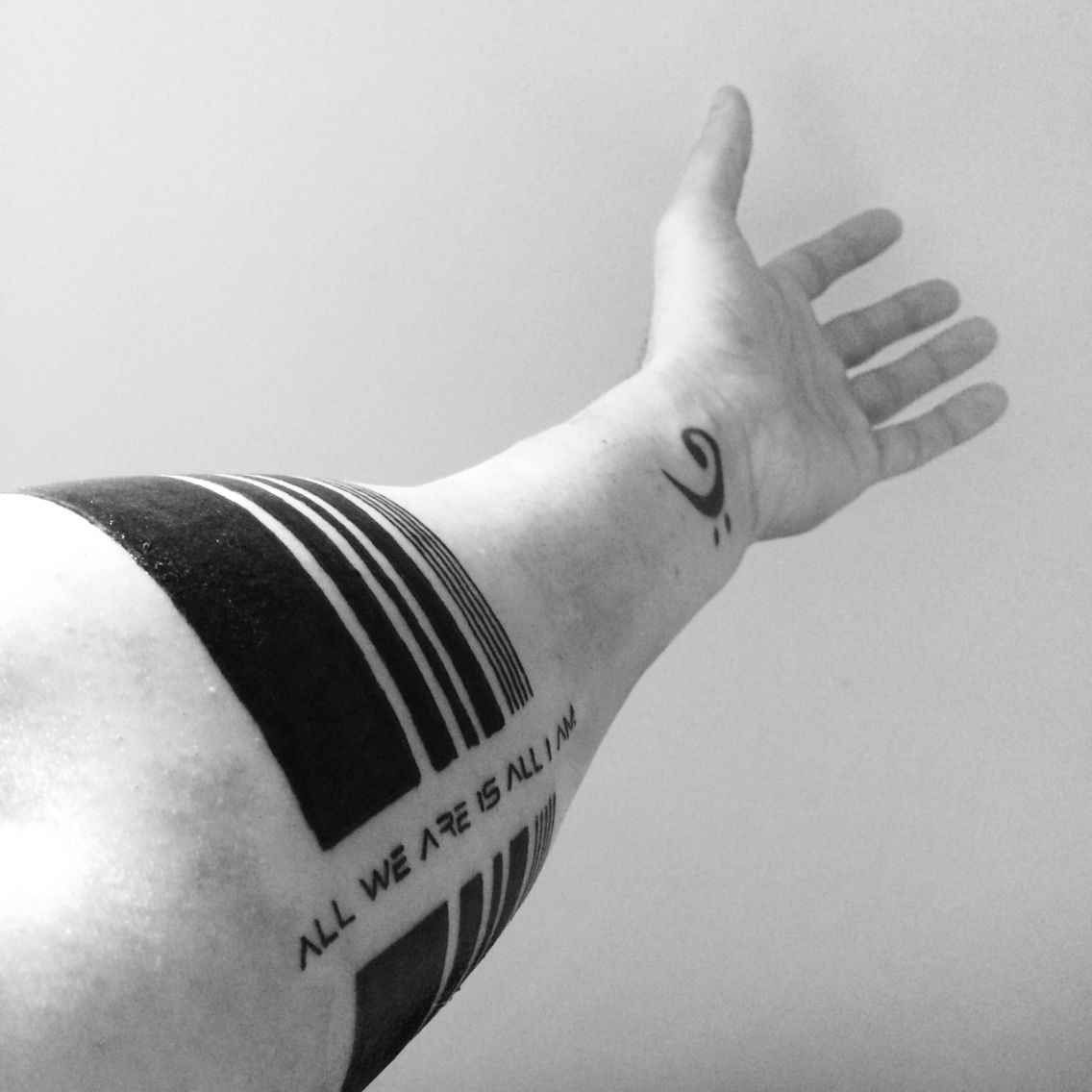 My Design On A Family Band Placed On My Left Forearm Tattoo Blackandgrey Armband Linework Ink Tat F Arm Band Tattoo Forearm Band Tattoos Stripe Tattoo