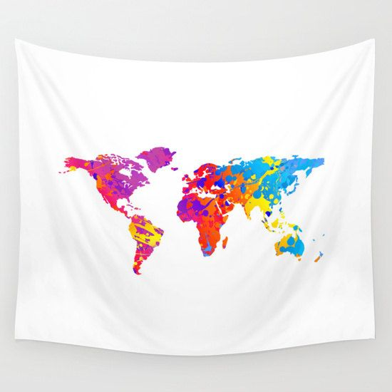 World map wall tapestry wall hanging world map decor by hhprint world map wall tapestry wall hanging world map decor by hhprint gumiabroncs Image collections