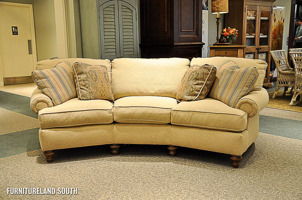 Curved Sofa Clayton Clayton Marcus Tan Curved Sofa With Latte