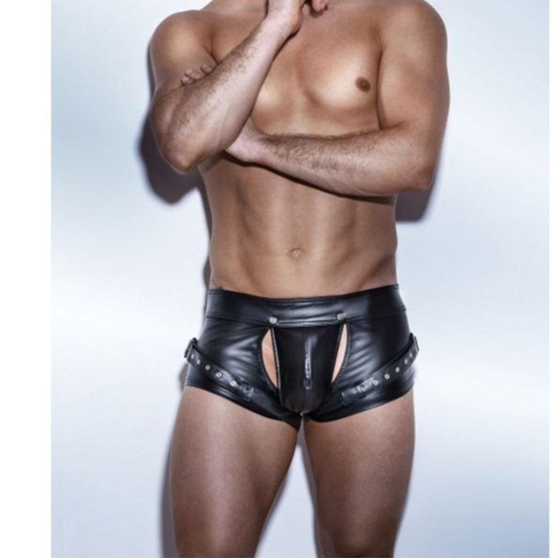 0993374dc ... Belt Design Calvin Underwear Macho Black Panties Boxer Shorts. Wetlook  Hotpant im Chaps Look von Noir Handmade bei Pokahontas. PU Faux Leather  Open ...