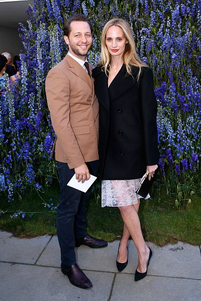 LR Dereck Blasberg and Lauren Santo Domingo attend the Christian Dior show as part of the Paris Fashion Week Womenswear Spring/Summer 2016 Held at...