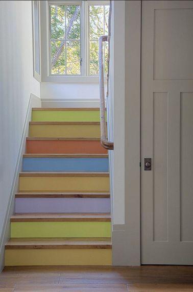 quelle couleur pour repeindre un escalier - Peindre Les Contremarches D Un Escalier En Bois