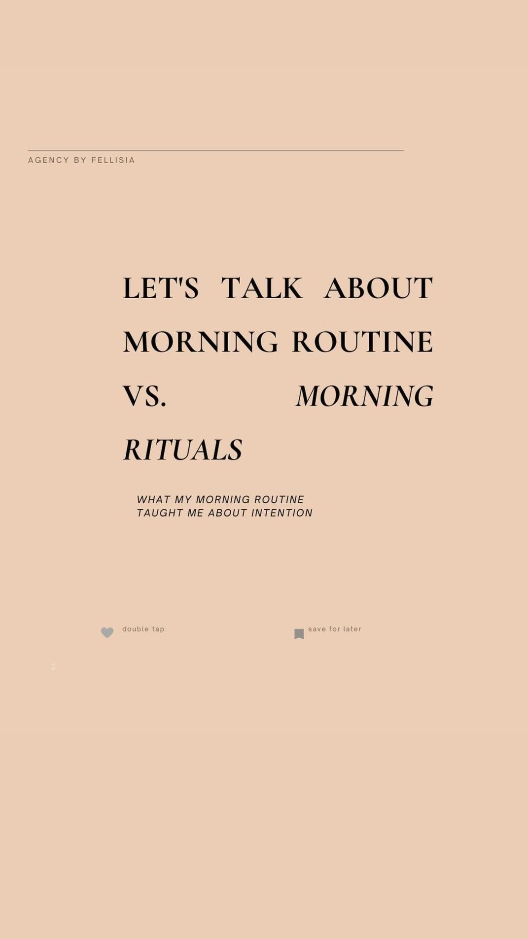 What Type of Morning Rituals Prepare You for Your Day?