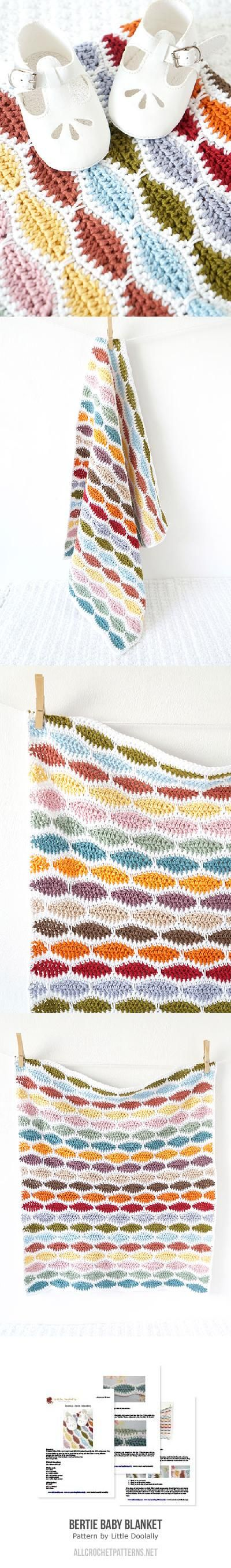 Bertie Baby Blanket crochet pattern by Little Doolally | Decken ...