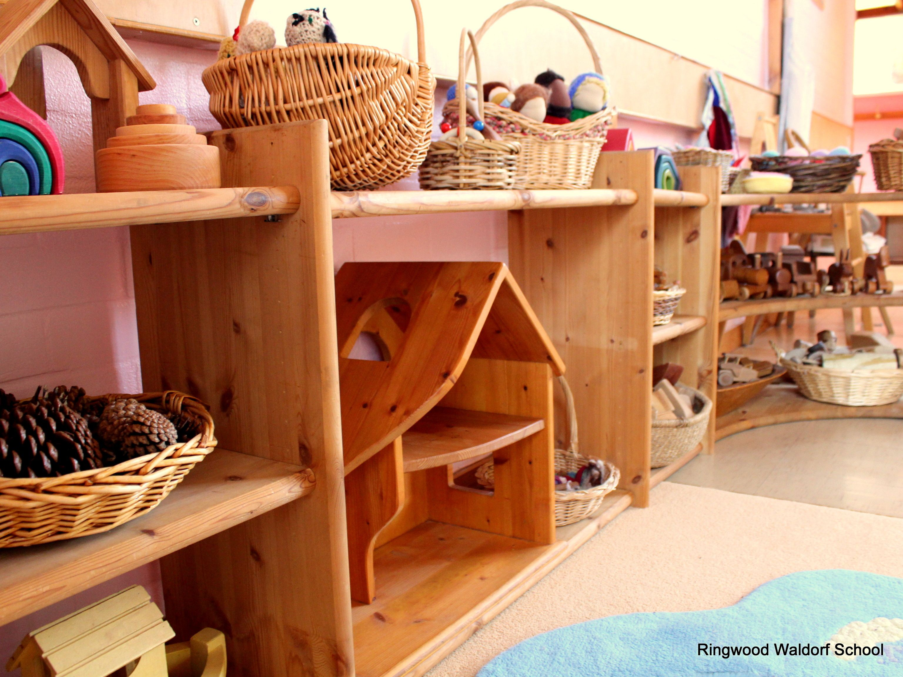 Waldorf Kindergarten Toys From Our Parent And Child Group. This Lovely Pine  Storage Unit Is
