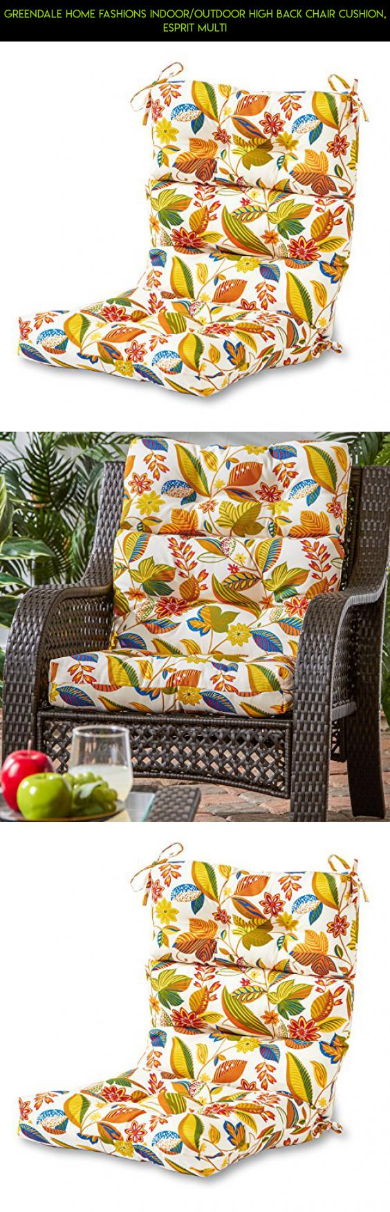 Outdoor high back chair cushions - Greendale Home Fashions Indoor Outdoor High Back Chair Cushion Esprit Multi Parts