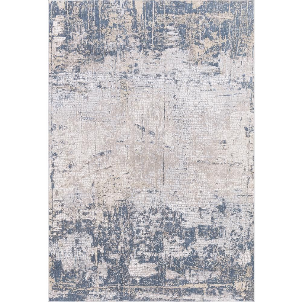 Amer Rugs Hilamrose Navy Blue Abstract 8 Ft 6 In X 11 Ft 6 In