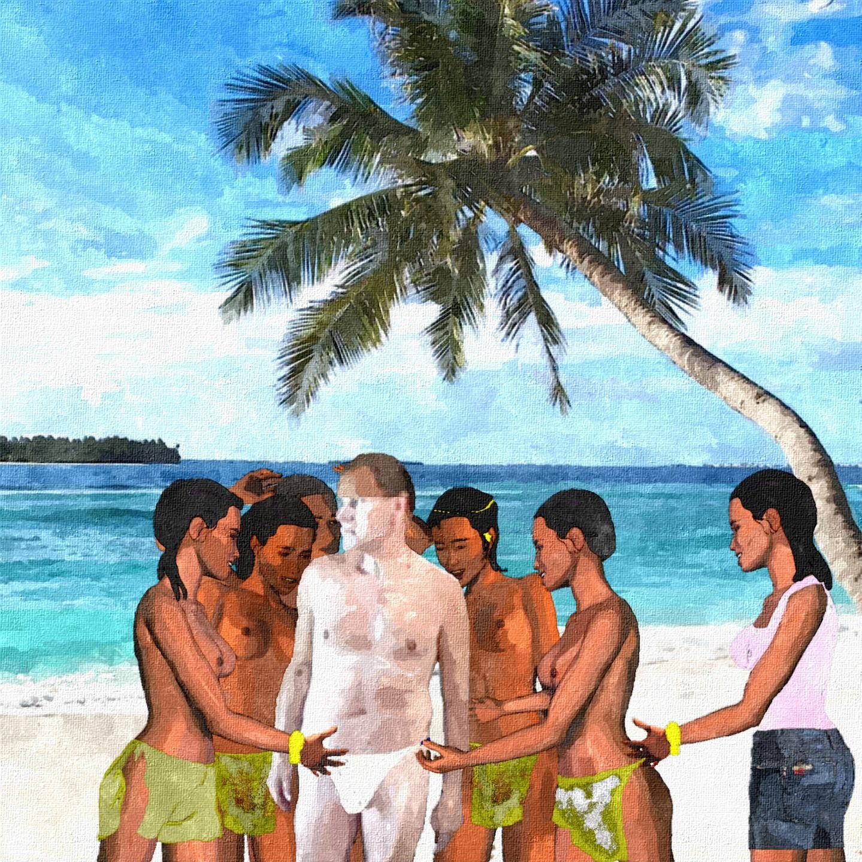 So hatte sich Paul das Vernaschtwerden nicht vorgestellt. Während er langsam registrierte, dass die jungen Frauen nicht etwa mit ihm flirteten, untersuchten sie seinen wohlgenährten Körper schon auf kulinarische Verwendbarkeit - so rosig und fett war er der ideale Kandidat für Long Pig