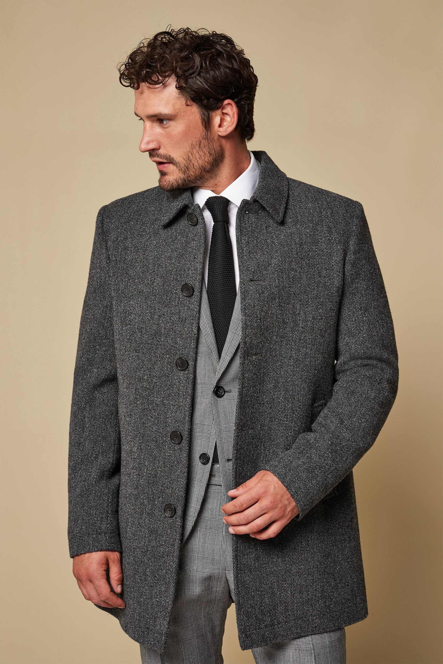 6ae03b8a3c05 Mens Next Charcoal Signature Car Coat - Grey | Products | Coat ...