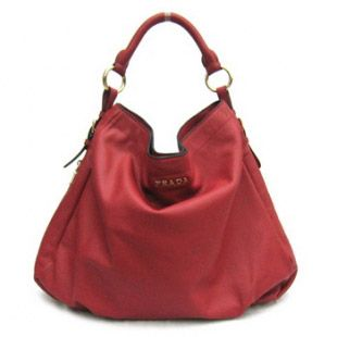 153.00 Buy Prada Leather Cervo Antik Hobo Bag Br4099 Red Sales ...