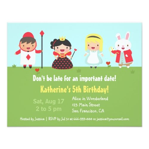 Alice in Wonderland Birthday Party Invitations | Pinterest | Party ...