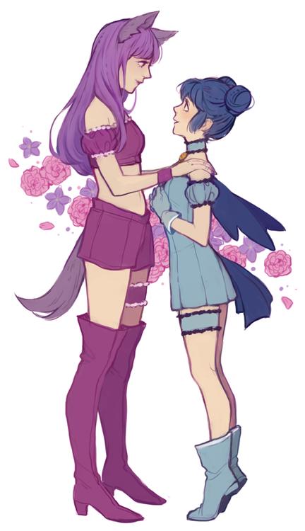 Zakuro/Mint, so cute. (^ω^)- friendly rice girl