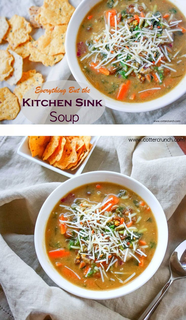 Everything But the Kitchen Sink Soup (Gluten Free) | Recipe | Vegan ...
