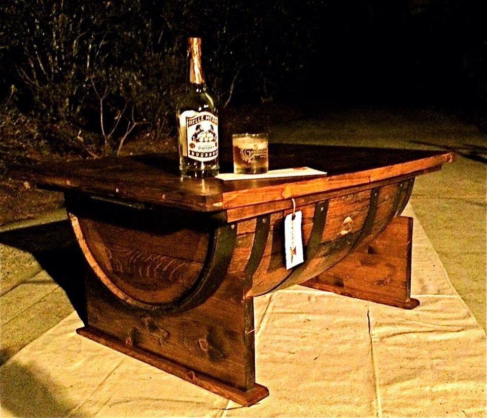 Heritage handcrafted coffee table made from jack daniels barrel heritage handcrafted coffee table made from jack daniels barrel geotapseo Images