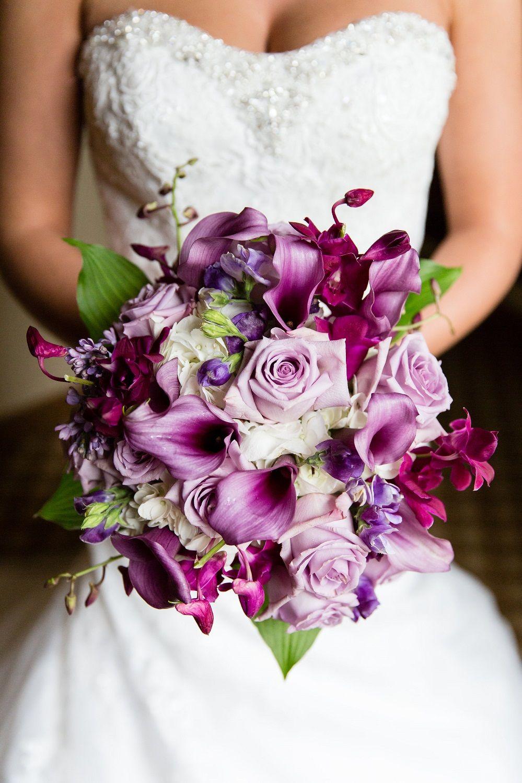Purple Calla Lily Wedding Bouquet Wedding Flowers Purple Wedding