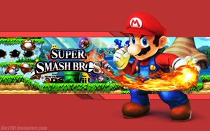 Really cool wallpaper of Mario for the new Super Smash