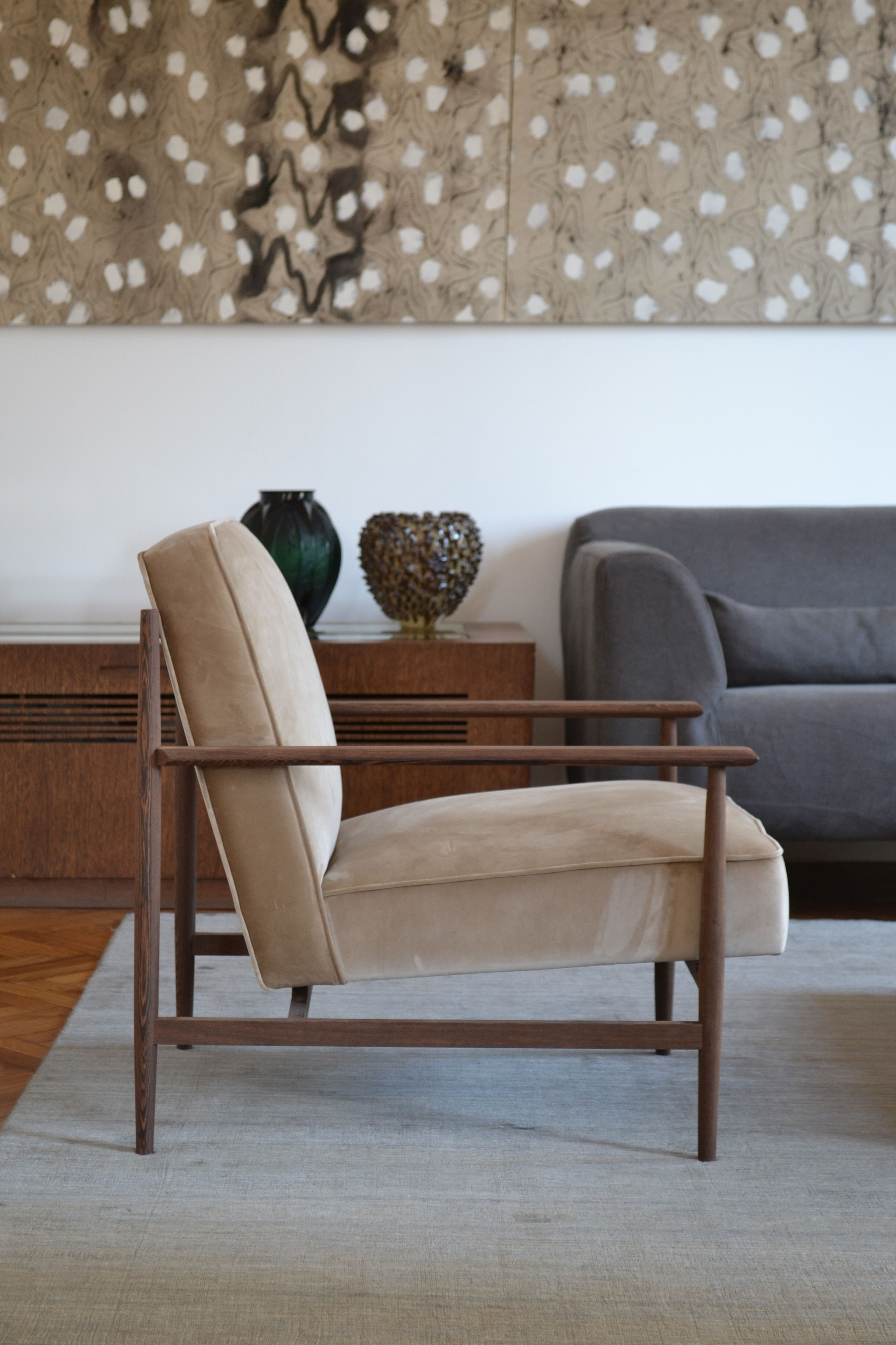 vintage arm chair grey bedroom uk poltrona gaia noce chairs pinterest armchair in wenge e velluto fuorisalone2017