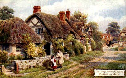 Cottage at Welford on Avon by A.R. Quinton | Illustrazioni ...