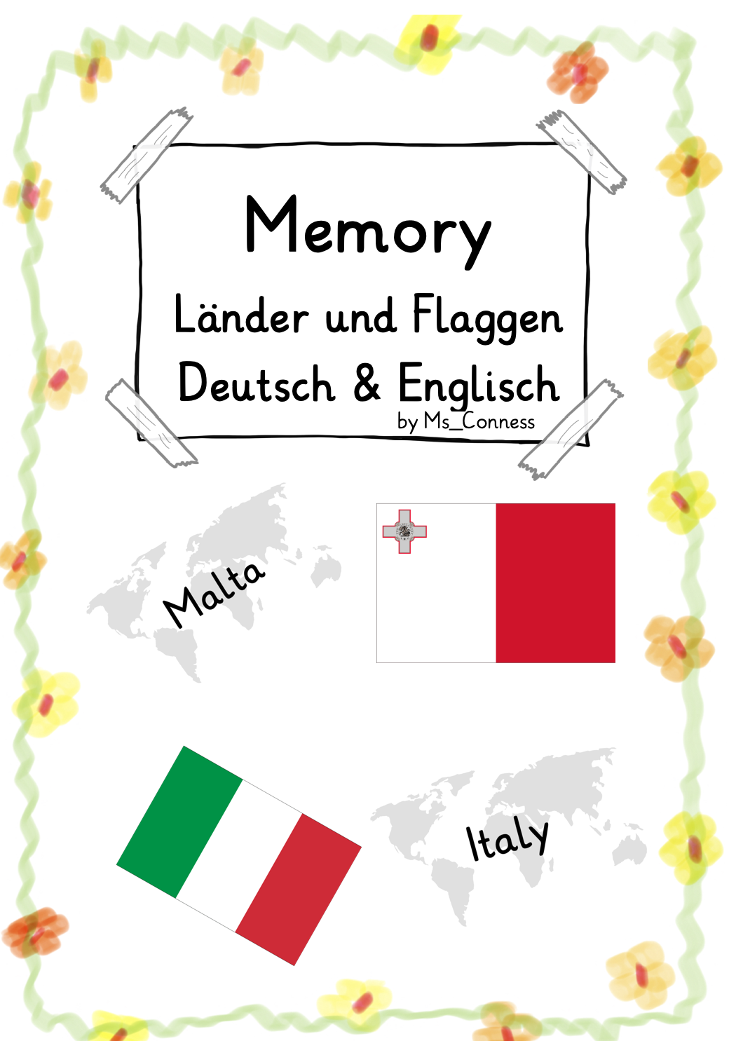 Memory Lander Und Flaggen Europas Deutsch Englisch Unterrichtsmaterial In Den Fachern Englisch Erdkunde Flaggen Englisch Flaggen Europas [ 1485 x 1050 Pixel ]