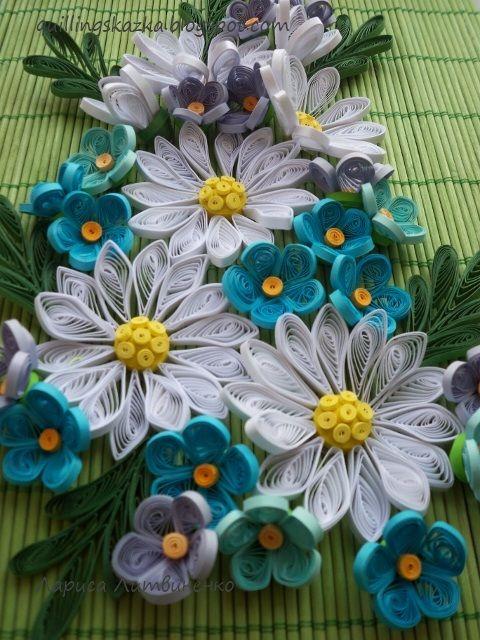 Chamomile Quilled Bouquet by Larisa Litvinenko, Artist from Ukraine.
