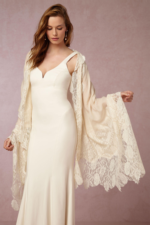 Dress to wear at a wedding  Aletta Wrap from BHLDN  Wedding Dress u Jewelry Inspiration